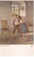 """Carl Zewy. Couple. Eva"" Fine Painting, Vintage German PC - Pintura & Cuadros"