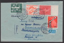 Homöopathie Samuel Hannemann, Heinrich Von Stephan, BRD 224, 227, Brief Mit NO-Steuermarke Limburg(Lahn), Eilbotenporto - Briefe U. Dokumente