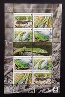 Bosnia - Croatia 2010; WWF Animals & Fauna, Reptiles Lizards; MNH, Neuf**, Postfrisch!! - W.W.F.