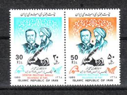 Iran - 1989. Louis Pasteur  E Al-Razi, Famosi Medici E Microbiologi. Famos Doctors And Microbiologists. Complete MNH Set - Medicina