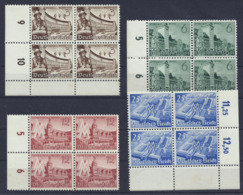 Deutsches Reich 739/742 Viererblocks ** - Unused Stamps