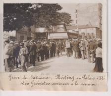 GRÈVE DU BÂTIMENT MEETING PALAIS D'ÉTÉ LES GRÉVISTES  18*13CM Maurice-Louis BRANGER PARÍS (1874-1950) - Plaatsen