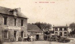 SERVON TANIS La Gare N° 203 Rare Cpa - Autres Communes
