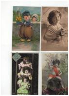 19 Oude Postkaarten Met Kindjes,meeste Geschreven En Afgestempeld Begin 1900 - 5 - 99 Cartes
