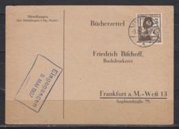 Dt.Reich Bücherzettel EF 643 Von Lappienen 3.5.37 - Germania