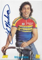 CARTE CYCLISME EDDY PLANCKAERT SIGNEE TEAM PANASONIC 1991 - Radsport