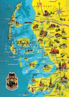 1 Map Of Germany * 1 Ansichtskarte Mit Der Landkarte - Nordfriesische Inseln * - Carte Geografiche