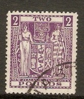 NEW ZEALAND 1931 £2 SG F162 FINE USED Cat £85 - Steuermarken/Dienstpost