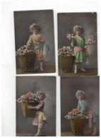 20 Oude Postkaarten Met Kindjes,meeste Geschreven En Afgestempeld Begin 1900 - Cartes Postales