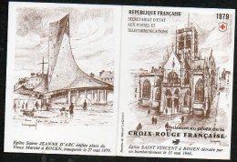 Timbres - Croix-Rouge - Eglise St Vincent à Rouen 1979 - Faciale 9.60 Fr Ou 1.46 € - Carnets
