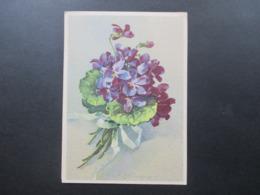 AK Künstlerkarte Blumenstrauss 1945 AM Post Deutscher Druck Nr. 20 Fernpostkarte Oberhausen - Hamburg - Blumen