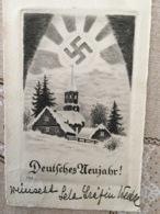 """AK Propaganda Hitler """"Nuovo Anno"""" Con Svastica - Non Classificati"""