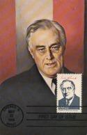 D38284 CARTE MAXIMUM CARD FD 1986 USA - PRESIDENT ROOSEVELT CP ORIGINAL - Célébrités