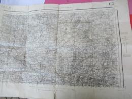 Carroyage Kilométrique/ TULLE/ Corréze/Type 1889/ Institut Géographique National/ Tirage D'Août 1941     PGC366 - Maps/Atlas