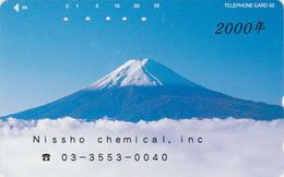 Télécarte Japon / 110-268 - Volcan MONT FUJI - Mountain Japan Phonecard - Berg TK - ** Teleca Code **  MD 250 - Japan