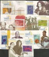 2006-ED. 4268 A 4274- EXPO. MUNDIAL DE FILATELIA ESPAÑA'06. PERSONAJES-MISMO Nº- USADO - 1931-Hoy: 2ª República - ... Juan Carlos I