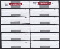 Amanhecer, Portugal 2019 - Açúcar Branco / Série Complète 10 Sachets Vides (Numéroté) - Sucres