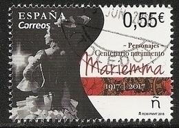 2018-ED. 5234 COMPLETA - Centenario Del Nacimiento Mariemma. Danza -USADO - 1931-Today: 2nd Rep - ... Juan Carlos I