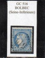 Seine-Maritime - N° 60A (déf) Obl GC 516 Bolbec - 1871-1875 Cérès