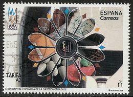 2018-ED. 5203 - León. Capital Española De Gastronomía- USADO- - 2011-... Gebraucht