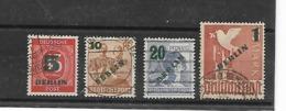 Berlijn  N° 47/50 Cote Yvert 2003  50 Euro - Usati