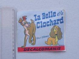 DECALCOMANIES Anciennes Walt DISNEY: LA BELLE ET LE CLOCHARD Livret Avec 3 Volets Intérieurs -Fourrière - JESCO Imagerie - Collezioni