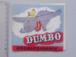 DECALCOMANIES Anciennes Walt DISNEY: DUMBO Livret Avec 3 Volets Intérieurs - Eléphant Cirque Oreille - JESCO Imagerie - Vieux Papiers