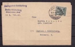 BERLIN MiNr 7 SCHWARZAUFDRUCK EF 16 Pf.  BERLIN-Schöneberg 30.9.1948 - Cartas