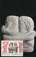 D38296 CARTE MAXIMUM CARD 1967 ROMANIA - SCULPTURE THE KISS BY BRANCUSI CP ORIGINAL - Sculpture