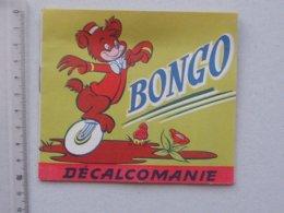 DECALCOMANIES Anciennes Walt DISNEY: BONGO Livret Avec 3 Volets Intérieurs - Ours Cirque Forêt - JESCO Imagerie - Collezioni