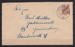 BERLIN MiNr 9 SCHWARZAUFDRUCK EF 24 Pf. BERLIN-Neuköln Nach BRAUNSCHWEIG - Cartas