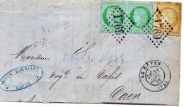 Seine-Maritime - LAC (état Moyen) Affr N° 59+53 Paire Obl GC 1759 - Càd Type 17 Le Havre - Marcophilie (Lettres)