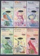 Bermuda Full Set 6 PCS, 2+5+10+20+50+100 Dollars, 2009, P-52-62, Prefix Vary,UNC - Bermuda