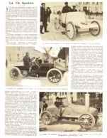 """LA COURSE   """" Du KILOMETRE Et Du  MILLE """"  (SERPOLLLET / BARON De CATERS / GABRIEL ET SINGER )  1903 - Transporto"""