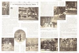 LA FABRIQUATION D'UN DECOR De THEATRE  1907 - Théâtre