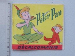 DECALCOMANIES Anciennes Walt DISNEY: PETER PAN Livret Avec 3 Volets Intérieurs - Pirate Capitaine CROCHET JESCO Imagerie - Vieux Papiers