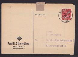 BERLIN MiNr 3 SCHWARZAUFDRUCK EF 8 Pf. BERLIN Nach BLN-Charlottenburg - Cartas