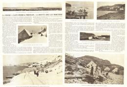 LA MISERE à SAINT-PIERRE & MIQUELON / LA DISETTE CHEZ Les MORUTIERS  1907 - Outre-Mer