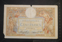 Billet, FRANCE, 100 Francs Luc Olivier Merson 29/11/1934 AB   Serie O.46502  489 - 1871-1952 Antiguos Francos Circulantes En El XX Siglo