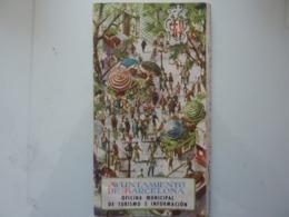 "Opuscolo Illustrato  ""AYUNTAMIENTO DE BARCELONA GUIA TURISTICA DE BARCELONA 1952"" In Lingua Spagnola - Dépliants Turistici"