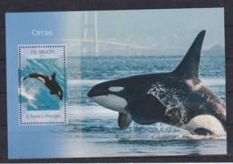 H681. S.Tome E Principe - MNH - 2014 - Nature - Marine Life - Whales - Bl - Plants