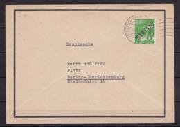 BERLIN MiNr 4 SCHWARZAUFDRUCK EF 10 Pf. BERLIN Nach BLN-Charlottenburg - Cartas