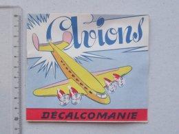 DECALCOMANIES Anciennes: LES AVIONS Livret Avec 3 Volets Intérieurs - Armée Hydravion Cargo - Editions JESCO Imagerie - Collezioni