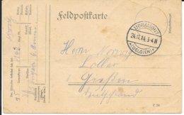 BELGIQUE - GUERRE 1914 1918    FELDPOFTKARTE  -  24 11 14 -  CACHET LIBRAMONT *(BELGIEN)* - Sonstige