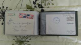 - DESTOCKAGE - CLASSEUR DE 104 LETTRES + CARTES POSTALES DE FRANCE ET D'ÉTRANGER - - Postmark Collection (Covers)