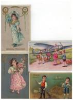 20 Oude Wenskaarten Met Kindjes,meeste Geschreven En Afgestempeld Begin 1900 - 5 - 99 Cartes