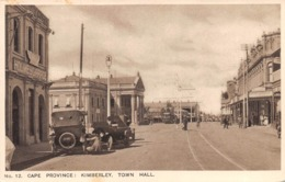 """M08622 """"CAPE PROVINCE-KIMBERLEY-TOWN HALL""""ANIMATA-AUTO '20 -CART. ORIG.  NON SPED. - Sud Africa"""