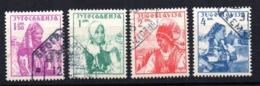 Serie   Nº  313A/D   Yugoslavia - 1931-1941 Reino De Yugoslavia