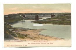 Near Standerton - Burger Wagon Bridge & Railway Bridge Over The Vaal River - Old South Africa Postcard - South Africa