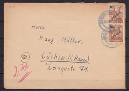 BERLIN MiNr 65 Als MeF BERLIN-WANNSEE Nach LÜCHOW 13.1.1949 - Cartas